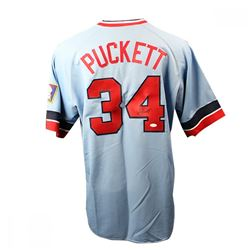 Kirby Puckett Signed Cooperstown Collection Minnesota Twins Jersey (JSA Hologram)