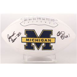 "Jourdan Lewis Signed Michigan Wolverines Logo Football Inscribed ""Go Blue"" (JSA COA)"