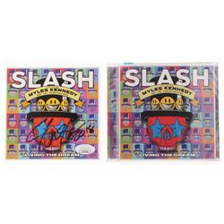 "Slash Signed ""Living The Dream"" CD Album Case (JSA COA)"
