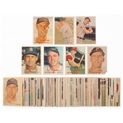 Lot of (87) 1957 Topps Baseball Cards with #367 Ed Fitzgerald, #220 Jackie Jensen, #209 Bob Skinner,
