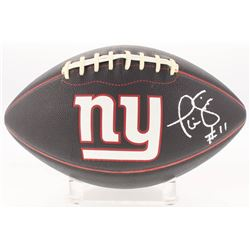 Phil Simms Signed New York Giants Logo Football (JSA COA)