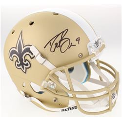 Drew Brees Signed New Orleans Saints Full-Size Custom Matte Gold Helmet (Beckett COA)