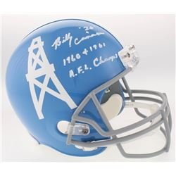 "Billy Cannon Signed Houston Oilers Full-Size Throwback Helmet Inscribed ""1960 + 1961 A.F.L Champs"" ("