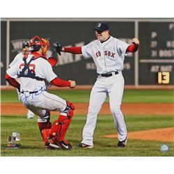 "Jason Varitek Signed Boston Red Sox ""Lester's No Hitter"" 16x20 Photo (MLB Hologram)"