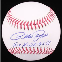 "Pete Rose Signed OML Baseball Inscribed ""Hit King 4256"" (Radtke COA)"