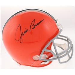 Jim Brown Signed Cleveland Browns Full-Size Authentic On Field Helmet (Radtke COA)