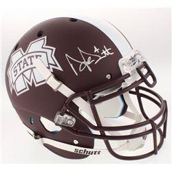 Dak Prescott Signed Mississippi State Bulldogs Custom Matte Brown Full-Size Helmet (Radtke COA  Pres
