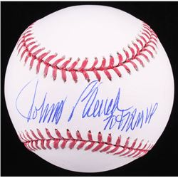 Johnny Bench Signed OML Baseball Inscribed  70  72 MVP  (JSA COA)