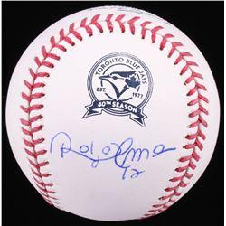 Roberto Alomar Signed OML Toronto Blue Jays 40th Anniversary Logo Baseball (JSA COA)