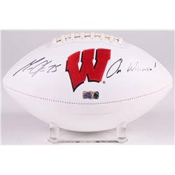 Melvin Gordon Signed Wisconsin Badgers Logo Football Inscribed  On Wisconsin!  (Radtke COA)