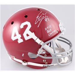 Eddie Lacy Signed Alabama Crimson Tide Full-Size Helmet Inscribed  11  12 BCS Champs  (Radtke COA  L