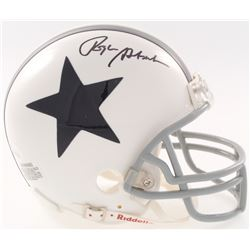 Roger Staubach Signed Dallas Cowboys Throwback Mini Helmet (JSA COA)