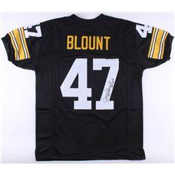"Mel Blount Signed Pittsburgh Steelers Jersey Inscribed ""HOF 89"" (JSA COA)"