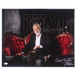 """Jonathan Goldsmith Signed """"The Most Interesting Man in the World"""" 17x21 Photo Inscribed """"Stay Thirst"""