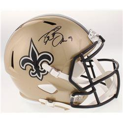 Drew Brees Signed New Orleans Saints Full-Size Speed Helmet (Radtke COA  Brees Hologram)