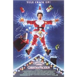 """Chevy Chase Signed """"National Lampoon's Christmas Vacation"""" 12x18 Photo (Beckett COA  Chase Hologram)"""