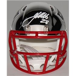 James White Signed New England Patriots Chrome Speed Mini Helmet (Fanatics Hologram)
