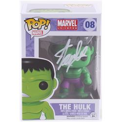 "Stan Lee Signed ""The Hulk"" #08 Funko Pop! Vinyl Bobble-Head Figure (Radtke COA  Lee Hologram)"