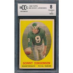 1958 Topps #90 Sonny Jurgensen RC (BCCG 8)