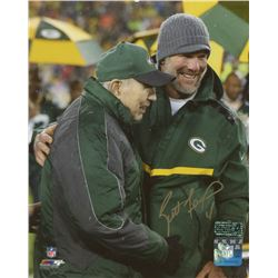 Brett Favre Signed Green Bay Packers 8x10 Photo With Bart Starr (Radtke COA)
