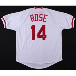 "Pete Rose Signed Cincinnati Reds ""Hit King"" Jersey (Fiterman Sports Hologram)"