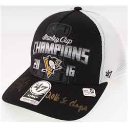 "Kris Letang Signed 2016 Stanley Cup Champions Pittsburgh Penguins Adjustable Hat Inscribed ""2016 SC"