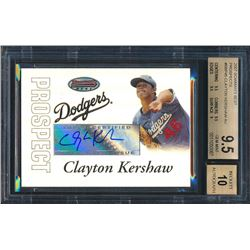 2007 Bowman's Best Prospects #BBP45 Clayton Kershaw AU (BGS 9.5)