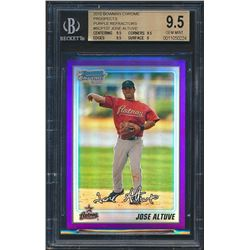 2010 Bowman Chrome Prospects Purple Refractors #BCP137 Jose Altuve (BGS 9.5)