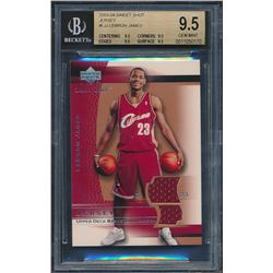 2003-04 Sweet Shot Jerseys #LJJ LeBron James (BGS 9.5)