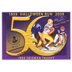 Billy Cannon  Artist Signed 14x20 LSU Tigers 1959 Halloween Run LE Lithograph Inscribed  Heisman Tro