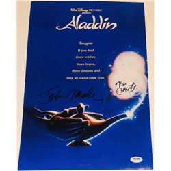 John Musker  Ron Clements Signed 12x18  Aladdin  Photo (PSA COA)