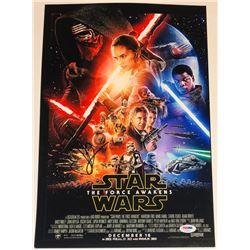 J.J. Abrams Signed  Star Wars: The Force Awakens  12x18 Photo (PSA COA)