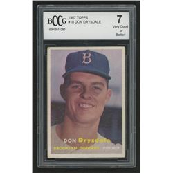 1957 Topps #18 Don Drysdale RC (BCCG 7)
