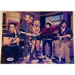 The Big Bang Theory  8.5x11 Photo Signed By (5) with Kaley Cuoco, Johnny Galecki, Jim Parsons, Kuna