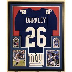 Saquon Barkley Signed New York Giants 34x42 Custom Framed Jersey (JSA Hologram)