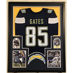 Antonio Gates Signed Los Angeles Chargers 34x42 Custom Framed Jersey (Beckett COA)