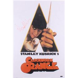 "Malcolm McDowell Signed ""A Clockwork Orange"" 24x36 Movie Poster (Radtke COA)"