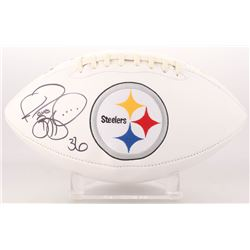 Jerome Bettis Signed Pittsburgh Steelers Logo Football (JSA COA)
