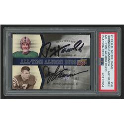 Paul Hornung  Daryle Lamonica Signed 2013 Upper Deck Notre Dame All Time Alumni Duos #ATADHL (PSA En