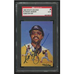 Reggie Jackson Signed 1984 Galasso #1 (SGC Encapsulated)