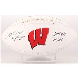 "Melvin Gordon Signed Wisconsin Badgers Logo Football Inscribed ""5143 YDS 49 TDS"" (Radtke COA)"