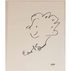 Carol Burnett Signed 8.5x11 Photo with Hand Drawn Sketch (PSA COA)