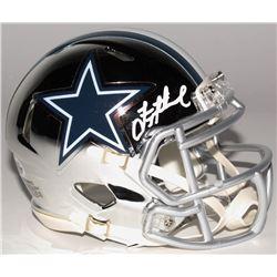 Troy Aikman Signed Dallas Cowboys Chrome Mini Speed Helmet (Beckett COA)