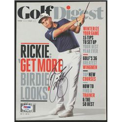 Rickie Fowler Signed Golf Digest Magazine (PSA Hologram)