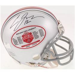 Cardale Jones Signed Ohio State Buckeyes 2014 National Championship Mini-Helmet (Radtke COA)