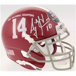 AJ McCarron Signed Alabama Crimson Tide 2011 National Champions Mini Helmet (Radtke COA)