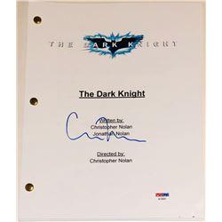 "Christopher Nolan Signed ""The Dark Knight Rises"" Movie Script (PSA COA)"