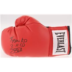 "James ""Buster"" Douglas Signed Everlast Boxing Glove Inscribed ""Tyson KO""  ""2/10/90"" (JSA COA)"