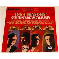 "Frankie Valli Signed ""The Four Seasons' Christmas Album"" Vinyl Record Album (PSA COA)"