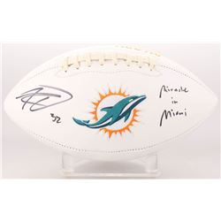 "Kenyan Drake Signed Miami Dolphins Logo Football Inscribed ""Miracle in Miami"" (Radtke COA)"